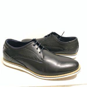 c0f6f689d494 Harrison Men s Casual Derby Lace-Up Shoes Black